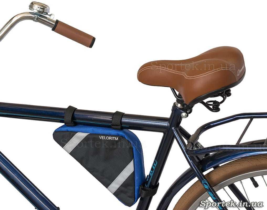 Велосипедная сумка Veloritm на раме велосипеда
