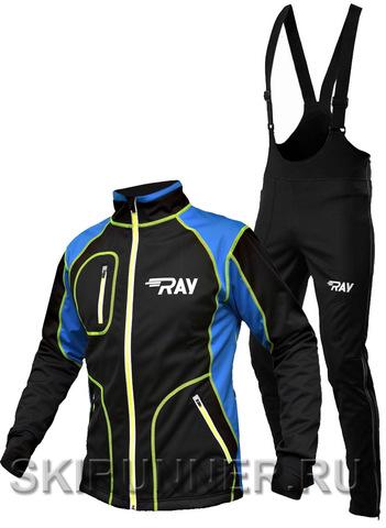Утеплённый лыжный костюм RAY STAR WS Black-Blue 2018 мужской