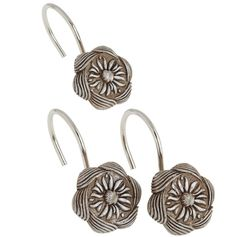 Набор из 12 крючков для шторки Carnation Home Fashions Auburn Silver