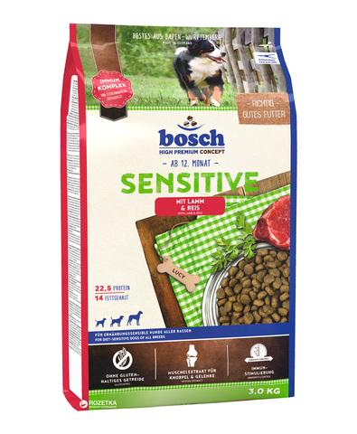 Bosch Adult с ягнёнком и рисом сухой корм для собак 3 кг