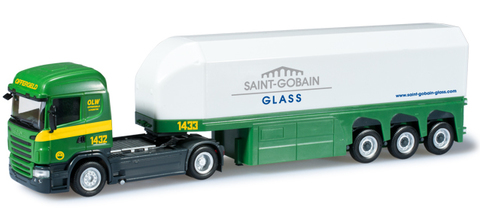 Herpa 303279 Грузовой автомобиль Scania RHL glass transporter semitrailer