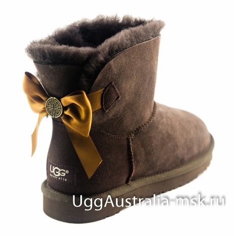 Ugg Bailey Bow Medallion Chocolate