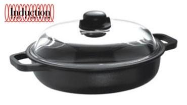 Литой сотейник с крышкой Risoli Induction 24см 00099IN/24TPСотейники<br>Литой сотейник с крышкой Risoli Induction 24см 00099IN/24TP<br><br>Вся продукция торговой марки Risoli (Ризоли) производится исключительно в Италии. Компания Risoli является лидером в производстве литой посуды из алюминия. На фабриках Risoli размещают свои заказы на производство посуды свыше 20 других европейких компаний из Италии, Испании, Германии, Швейцарии и других стран. Посуда Risoli отливается из новейшего пищевого алюминиевого сплава EcoCast. Этот сплав был специально разработан для производства литой посуды премиум класса. Массовая доля алюминия в этом сплаве достигает 98%, в то время, как в других сплавах, использующихся для производства литой посуды, этот показатель не выше 80%. Сверхпрочное титановое покрытие Titanium 3®, установленное по технологии Plasma Spray на подложку из оксида титана – сверхпрочной керамики. Верхний антипригарный слой выполнен на водной основе. Это лучший выбор для посуды класса Премиум. Антипригарные покрытия, используемые компанией Risoli для производства своей посуды, не содержат PFOA (перфтороктановую кислоту). Они абсолютно антипригарные и безопасные. Компания Risoli всегда использует только самые современные разработки и технологии, всегда стараясь быть на шаг впереди. Посуда Risoli линии Induction создавалась специально для использования на индукционных плитах. Вся посуда Risoli Induction имеет цельный стальной диск толщиной 2мм., интегрированный в литое дно. Такая конструкция индукционного дна обеспечивает максимально быстрое нагревание посуды и существенную экономию электроэнергии. Сковороды мелкие Risoli линии Induction имеют дно толщиной 8мм., глубокие 10мм. Кастрюли, сотейники и ковши Risoli линии Induction имеют дно толщиной 9мм. Такая посуда сохраняет тепло также долго, как чугунная, однако в отличии от чугунной, к ней не прилипает пища во время готовки! Технология HEAT (High - Even - Advanced - Technology) для идеально равномерного распределения