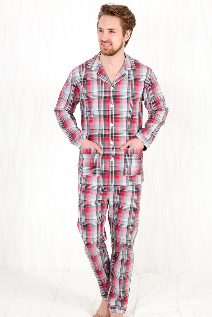 Клетчатая мужская пижама Pellegrini