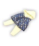 Костюм с жилетом - Синий / белый. Одежда для кукол, пупсов и мягких игрушек.