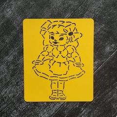 Трафарет №12 Кукла