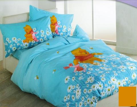 Детское постельное белье Caleffi Pooh Primavera желтое