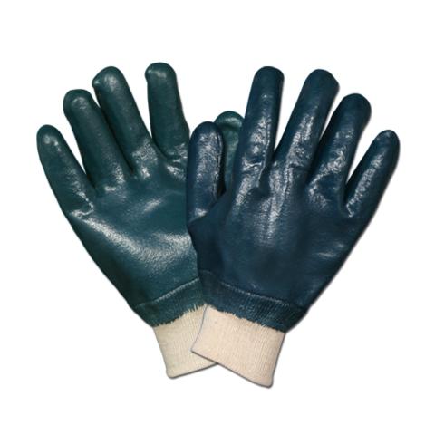Перчатки нитриловые с полным покрытием (манжет резинка) двойной облив