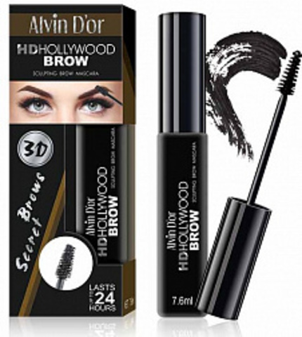 Alvin D`or Тушь д/бровей HD Hollywood Brow (тон 01A black) МВ-1