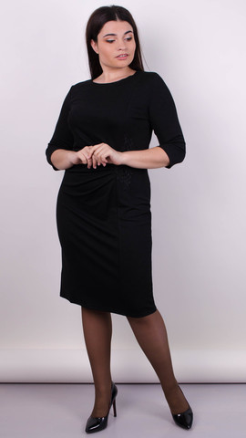 Тейлор. Изысканное женское платье больших  размеров. Черный.