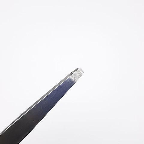 Пинцет для бровей прямой матовый, РАЗМЕР: 95MM, RT-300