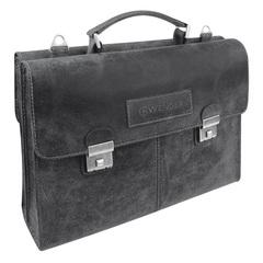 Кожаный портфель двусторонний Wenger W23-07Bl