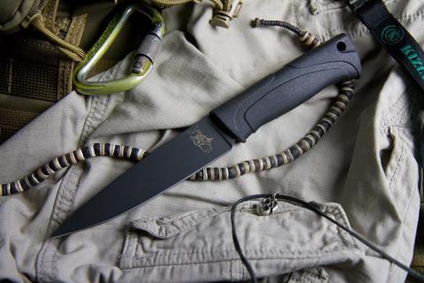 Туристический нож Лис Черный Эластрон