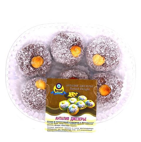 Джезерье Атом в кокосовой стружке с фундуком, 200 г