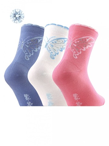Детские носки Tip-Top 7С-45СП (со стразами и люрексом) рис. 084 Conte Kids