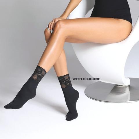Носочки с ажурной резинкой Fumi 80 ден
