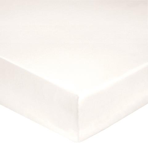 Простыня на резинке 180x200 Blanc des Vosges сатин белая
