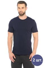 Две мужских футболки темно-синего цвета