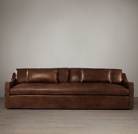 Belgian Classic Slope Arm Leather Sofa