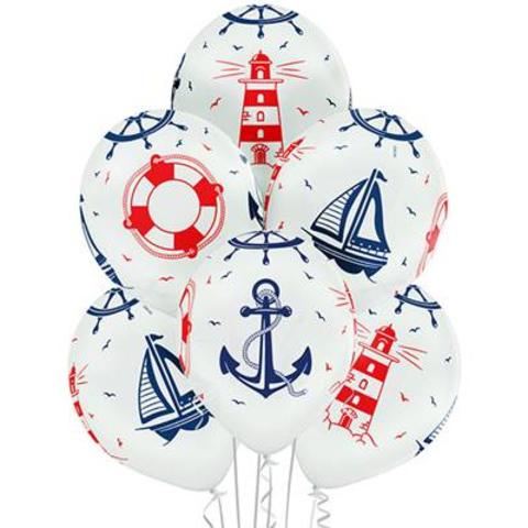 Воздушный шар с Морским рисунком