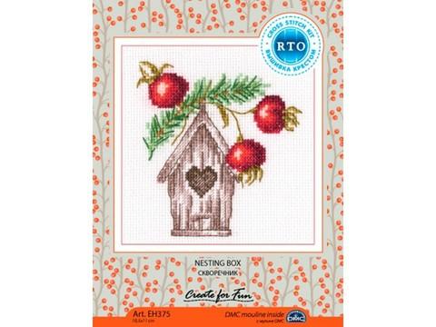 ¶Название по-английски:    Nesting box¶Название по-русски:    Скворечник¶Размер кадра, см:     10,5*
