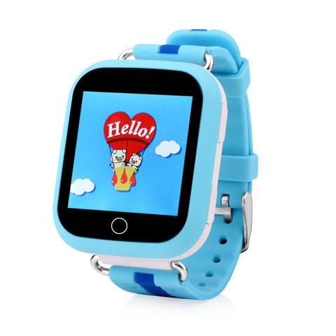 Детские часы с GPS Smart Baby Watch Q100 GW200S Голубой, вид спереди
