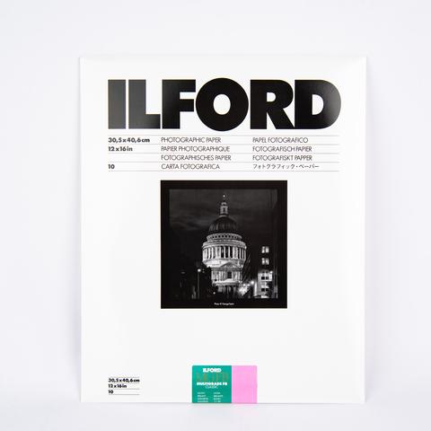 Фотобумага Ilford MG баритовая, 30,5 x 40,6 см, глянцевая, 10 листов