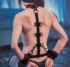Фиксация БДСМ для рук и шеи Scandal Collar Body Restraint