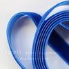 Лента бархатная, цвет - синий, 10 мм, примерно 1 м