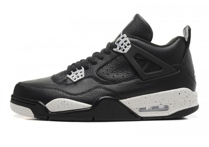 490a9cd71aca Nike-Air-Jordan-4-IV-Retro-Black-Leather-Krossovki-Najk-Аir-Dzhordan-4-IV- Retro-Chernye-Kozhanye