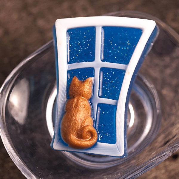 Форма для мыла Кошка на окошке