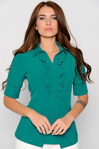 Хит сезона! Ультра модная модель для уверенной в себе дамы. Рукав до локтя на манжете. Силуэт приталенный. Сбоку замок. (Длины: 46-63см; 48-64см; 50-65см; 52-65см)