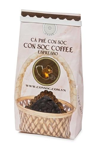Вьетнамский зерновой кофе Con Soc (Белочка), Эспрессо, 200 гр.