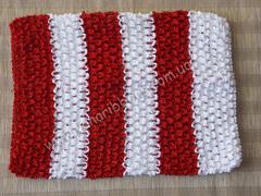 Ажурный топик бело-красный