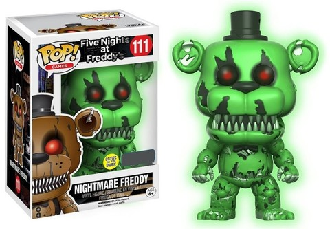 Nightmare Freddy #111 Walmart Exclusive Five Nights At Freddys Funko Pop MINT