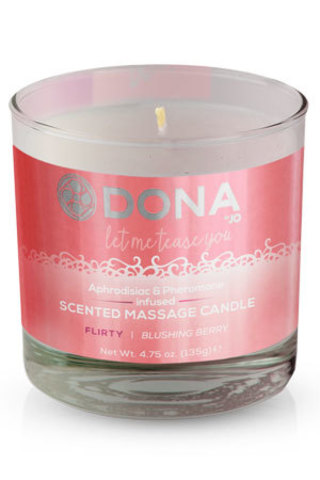 Массажная свеча - DONA Scented Massage Candle Flirty Aroma: Blushing Berry 135 г