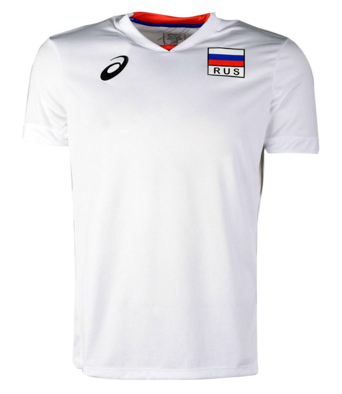 60c8caefc4fd Мужская волейбольная футболка Asics Man Russia Ss Tee 156869 01RU ...