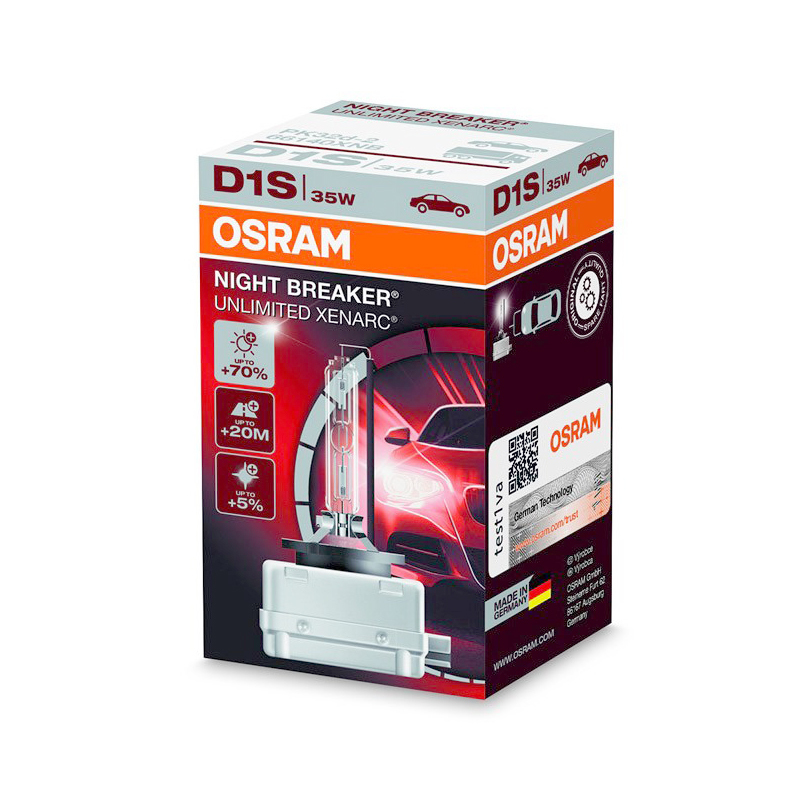Ксеноновая лампа OSRAM D1S Xenarc NIGHT BREAKER UNLIMITED