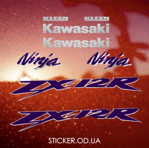 Набор виниловых наклеек на мотоцикл KAWASAKI ZX-12R 2002-2003