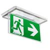 Светильник аварийного освещения при эвакуации ONTEC-S со съемным табло – полувстраиваемый монтаж