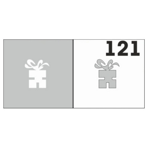 Трафарет для ногтей 6 шт. /1 уп. №121
