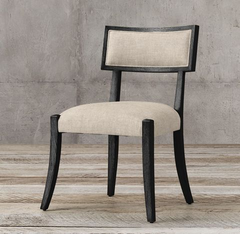 Classic Klismos Fabric Side Chair