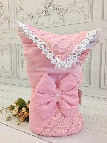 Конверт-одеяло Косичка комби розовый