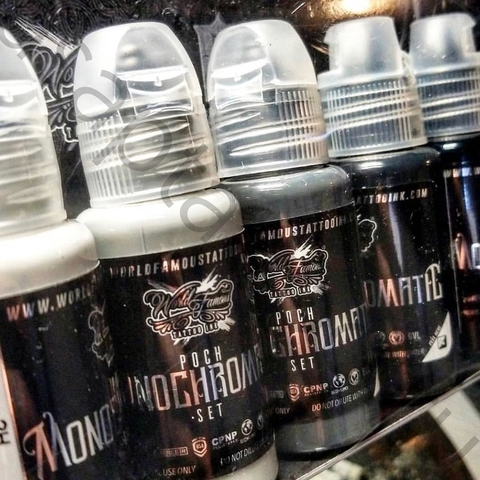 Краска World Famous Tattoo Poch's Monochromatic Set 6шт