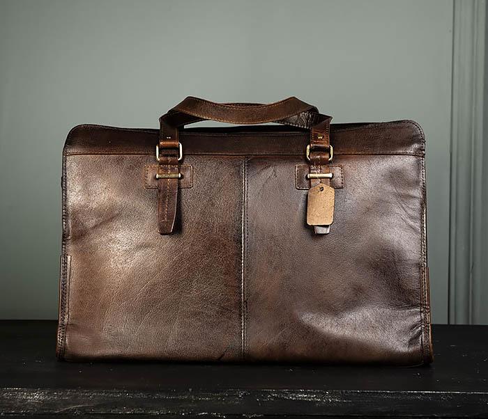 BAG468-2 Мужская сумка саквояж из натуральной кожи фото 05
