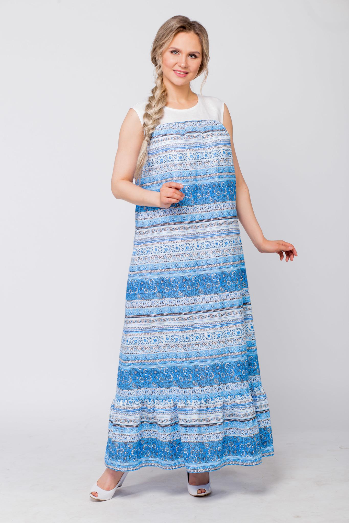 Платье льняное Утренняя роса без пояса