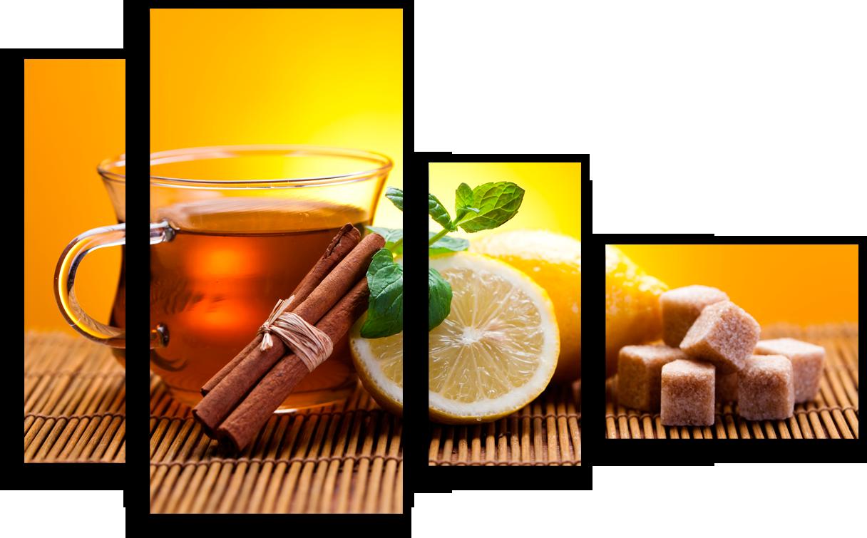 """Еда Модульная картина """"Чай с лимоном"""" М3.png"""