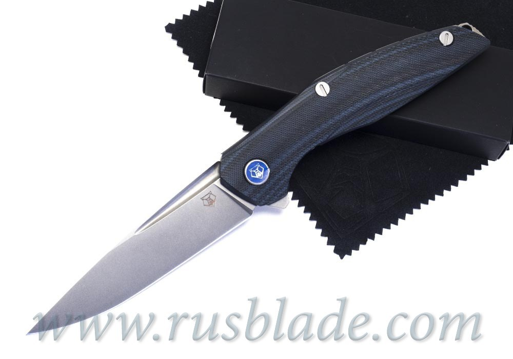 Shirogorov 111 M390 G10 black blue 3D MRBS