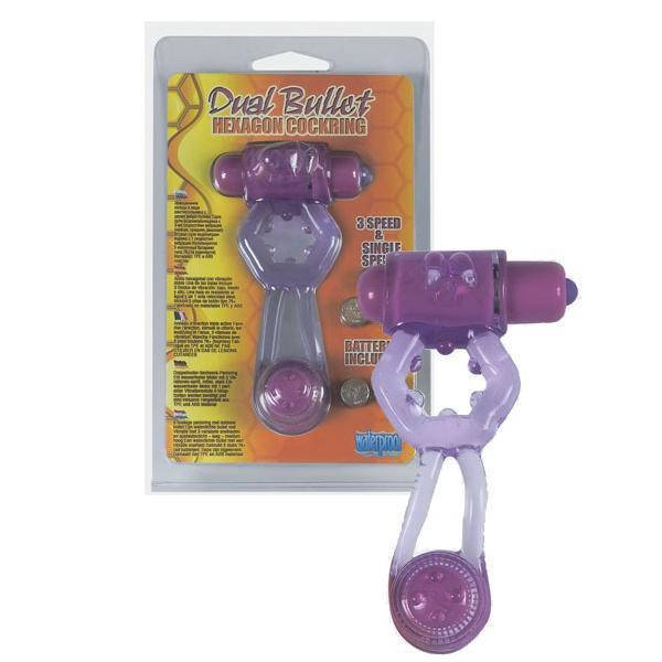 Эрекционные кольца: Фиолетовое эрекционное кольцо с вибропулей и стимулирующим хвостиком