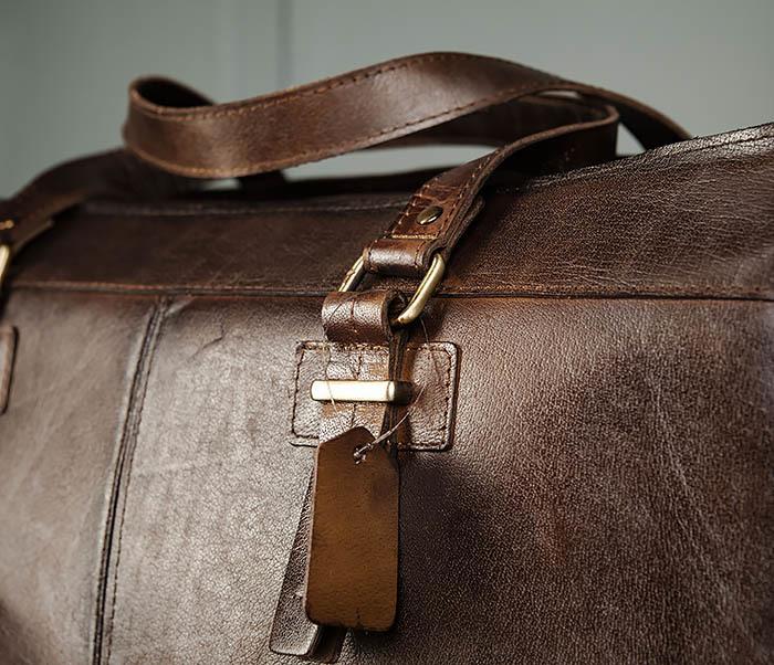 BAG468-2 Мужская сумка саквояж из натуральной кожи фото 06